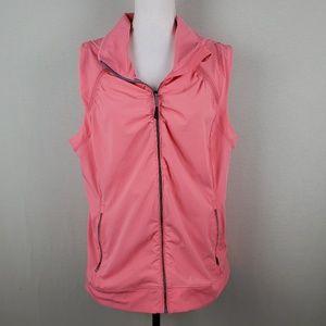 Tangerine Hoodie Sleeveless Athletic Vest Jacket